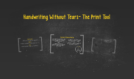 Copy of Handwriting Without Tears- The Print Tool