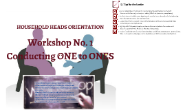 HHO Workshop: Conducting 1-to-1s
