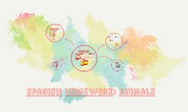 spanish homework: animals