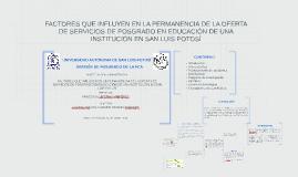 FACTORES QUE INFLUYEN EN LA PERMANENCIA DE LA OFERTA DE SERV