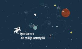Copy of Nynorske verb