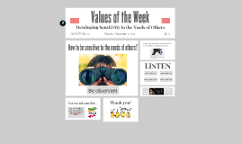 Values of the Week