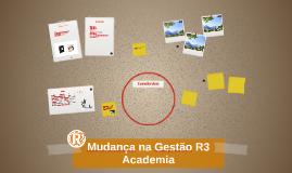Mudança na Gestão R3 Academia
