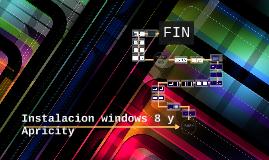 Instalacion windows 8 y apricity