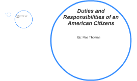 Duties and Responsabilities of an American Citizens