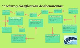 Archivo y clasificación de documentos