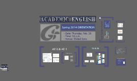 AE Orientation: Spring 2014 (Feb. 20)