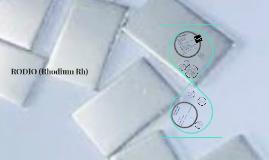 Rodio (Rhodium Rh)