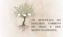 OS BENEFÍCIOS DO DESCARTE CORRETO DE ÓLEO E DOS RESÍDUOS SÓL