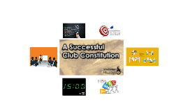 A Successful Club Constitution STAC101H
