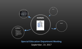 Special Education Department Meeting