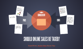 SHOULD ONLINE SALES BE TAXED?