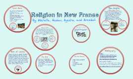 Copy of Religion in New France