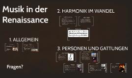 Musik in der Renaissance