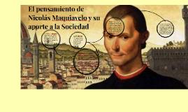 Copy of El pensamiento político de Nicolás Maquiavelo