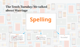 The Tenth Tuesday: We talked about Marriage
