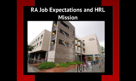 HRL Mission and RA Expectations - UNLV