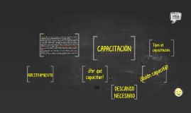 Copy of Adiestramiento, Capacitación y Descanso necesario.