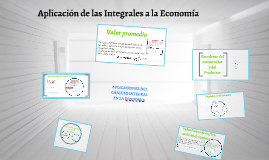 Copy of APLICACIONES DE LA INTEGRAL A LA ECONOMIA
