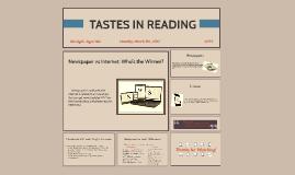 Tastes in reading