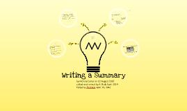 Writing a Four-Step Summary