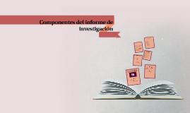 componentes del informe de investigacion