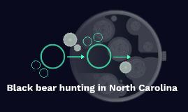Black bear hunting in North Carolina
