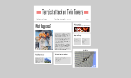 Terroist attack on Twin Towers