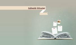 Isländsk litteatur