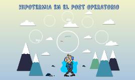 HIPOTERMIA EN EL POSTPERATORIO