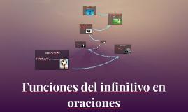 Funciones del infinitivo en oraciones