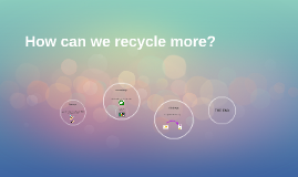 How can we recycle more?