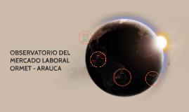 OBSERVATORIO DEL MERCADO LABORAL ORMET - ARAUCA