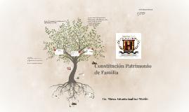 Constitución Patrimonio de Familia