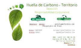 Huella de Carbono – Territorio