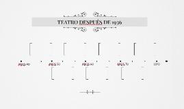 TEATRO DESPUÉS DE 1936