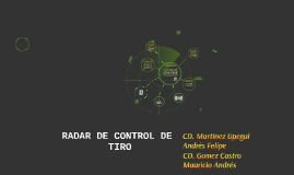 RADAR DE CONTROL DE