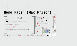 Homo Faber (Max Frisch)