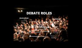 Debate Roles