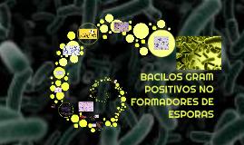 Copy of BACILOS GRAM  POSITIVOS NO FORMADORES DE ESPORAS