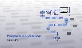 Manejadores de bases de datos.