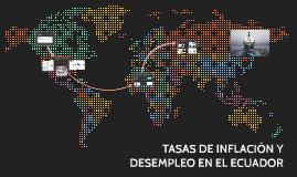 TASAS DE INFLACIÓN Y DESEMPLEO