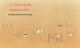 27-Técnicas de organización