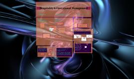 Hospitality & Operational Management