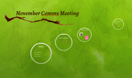 November Comms Meeting
