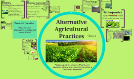 Alternative Agricultural Practices