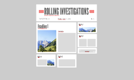 ROLLING INVESTIGATIONS