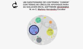 """UN CUESTIONARIO DE CONTENIDO """"COMÚN"""" CON TEMAS DE CÍRCULOS A"""