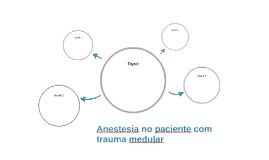 Anestesia no paciente com trauma medular