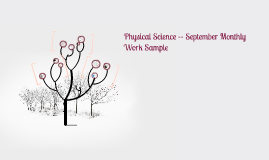 Physical Science -- September Monthly Work Sample